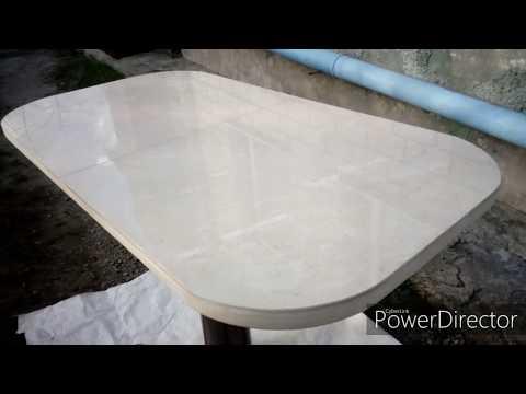 Кухонный стол с керамогранитным покрытием своими руками.