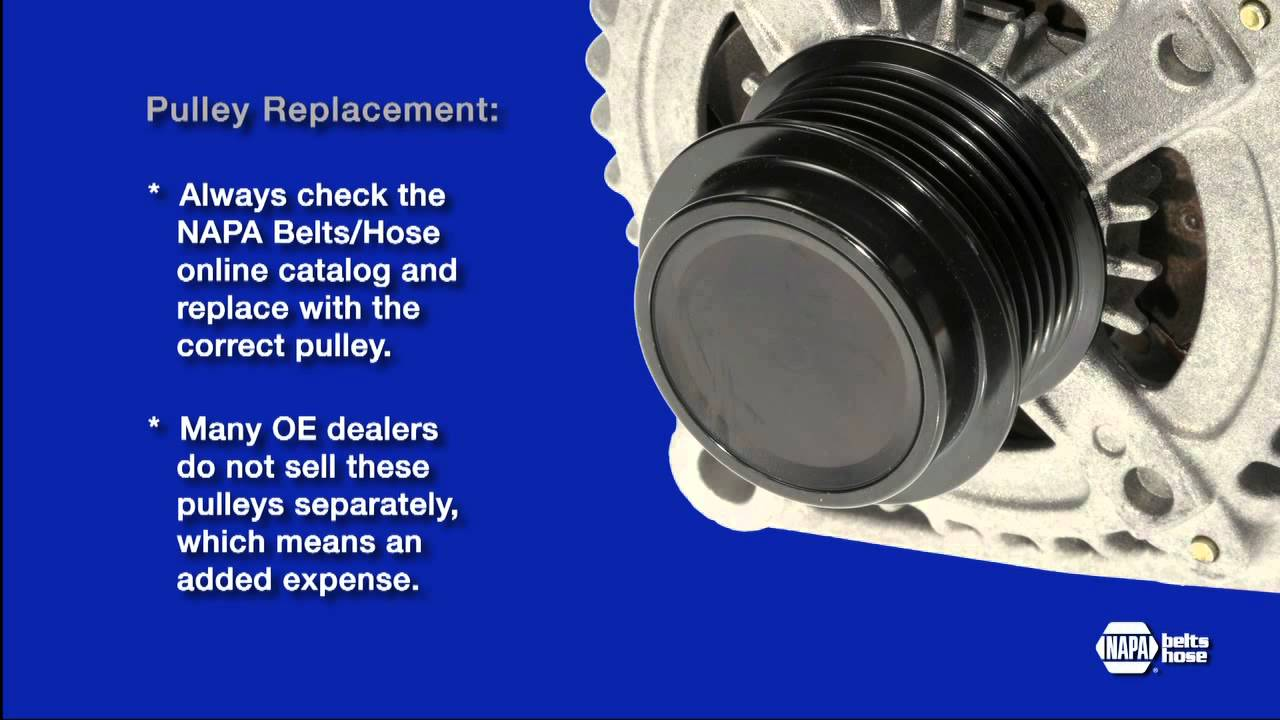 Alternator Decoupler Pulley How To Inspect And Replace