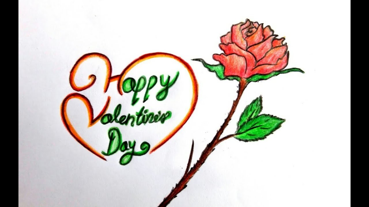 How To Draw Happy Valentines Day 2018 Drawing Ideas Step By Step