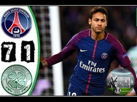 PSG vs Celtic 7 - 1   Highlights & Goals Por la Champions League