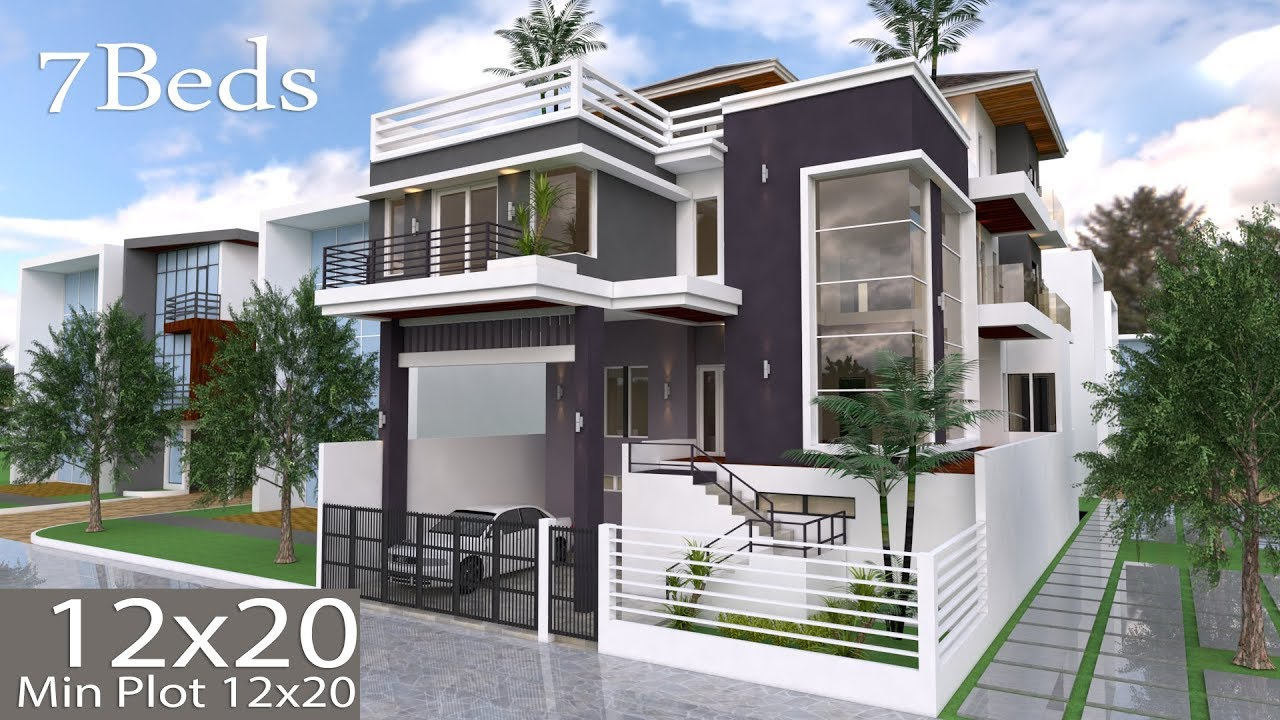 modern house plans 7 bedrooms modern home design plan 12mx20m 11306