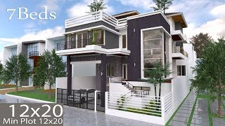 Video Sketchup Modern Villa Design 12mx20m download MP3, 3GP, MP4, WEBM, AVI, FLV Desember 2017