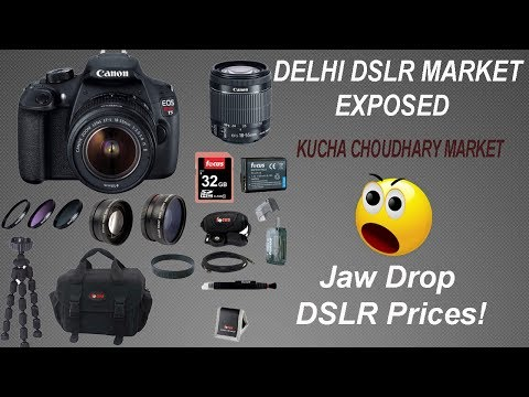VikVlogs #12 Cheap DSLR Camera Market in Delhi 2017. 😱Jaw Drop DSLR Prices😱Kucha Choudhary Market