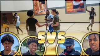 A FIGHT BROKE OUT W/ Toni Romiti! 5v5 IRL BBall GAME Ft. DDG, Tytheguy, TO, KINGCID, SmoothGio, Von
