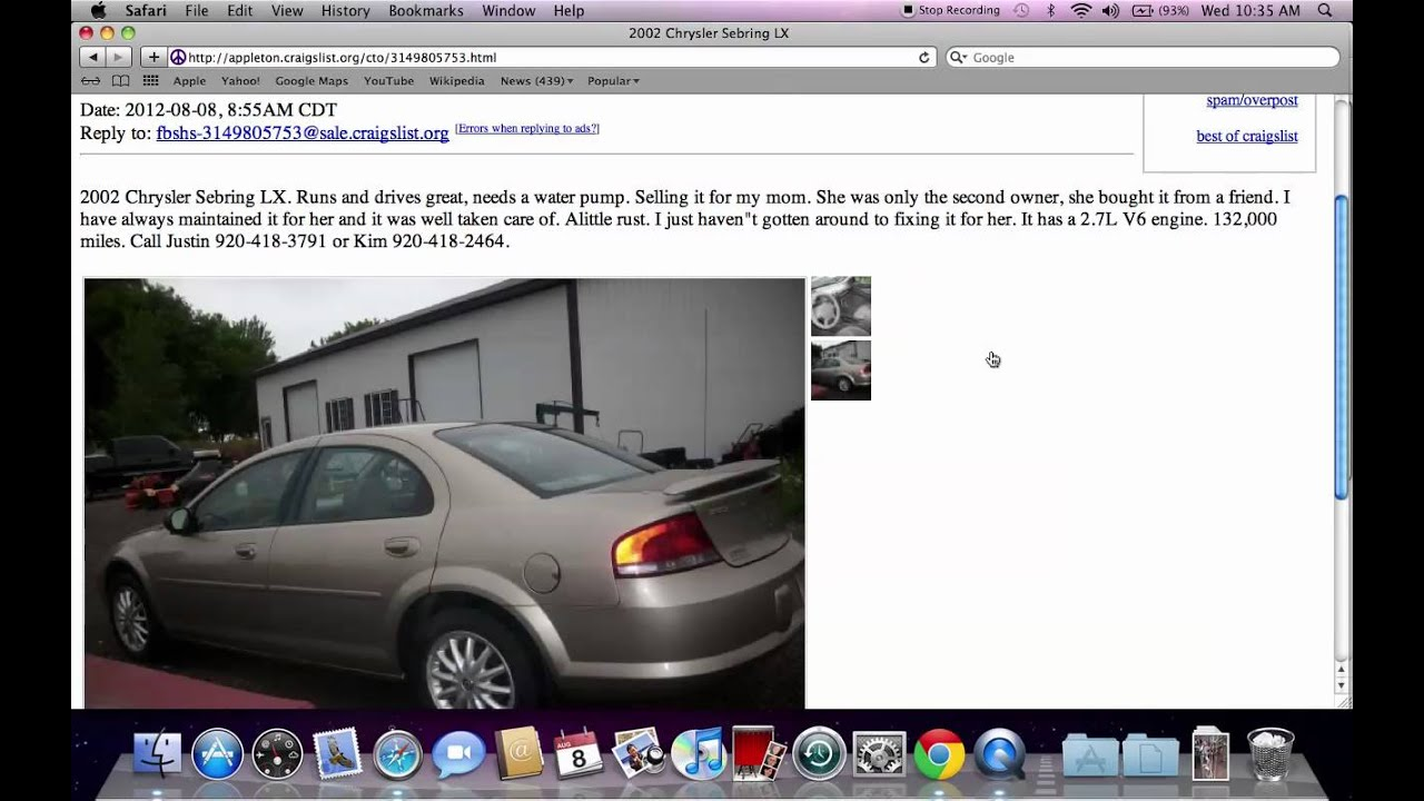 Craigslist Appleton Wisconsin Used Cars And Trucks Low Prices For Sale By Owner Youtube