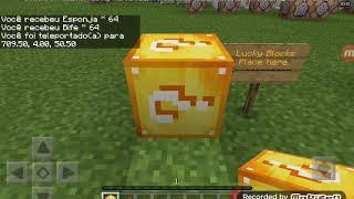 Abrindo lucky blocks no minecraft pocket edition! !!!!