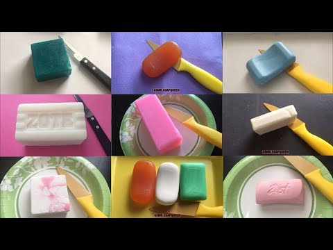 1 HOUR SATISFACTION FOR YOU, SOFT SOAP CARVING/CUTTING/WHITTLING COMPILATION