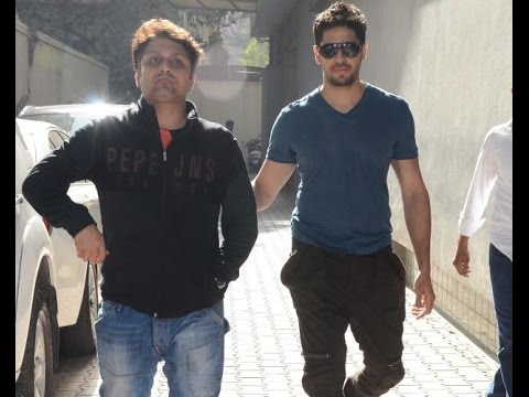 Sidharth Malhotra and Mohit Suri meeting at Vishesh Films Office