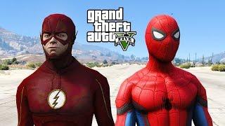 FLASH VS SPIDERMAN - GTA 5 MODS !!!