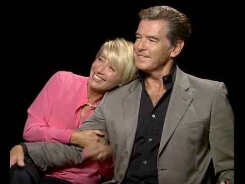 EMMA THOMPSON and PIERCE BROSNAN AWESOME interview about AGING and BEAUTY