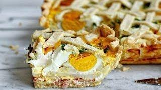 Пирог с картофелем, яйцами и ветчиной, рецепт для сытного завтрака