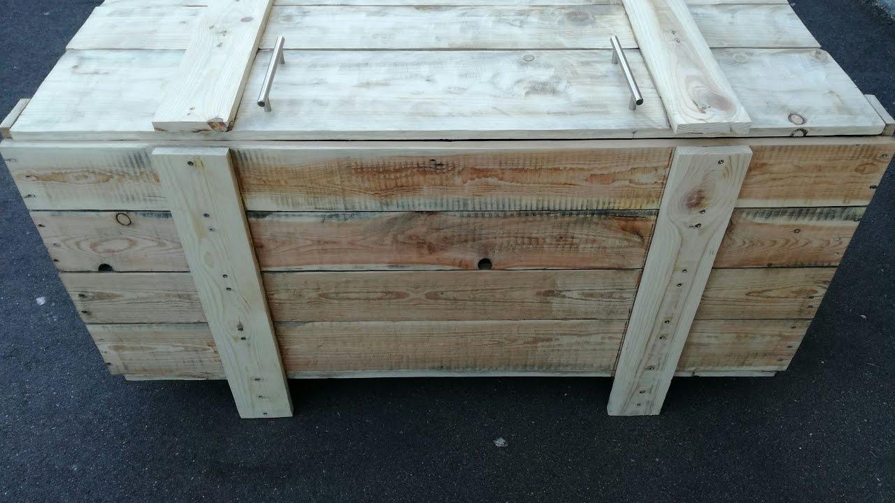 fabrication coffre en bois de palette