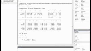 the restricted f test for multiple linear regression in stata