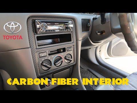 $15 Carbon Fiber Interior Trim Wrap Tutorial // 1998 Toyota Camry (97,99,00,01)