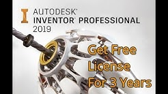AutoDesk Inventor Professional 2019 - Get Free 3 Years License - Download, Install & Activate