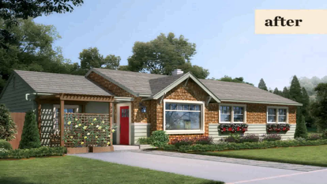 ranch style house curb appeal