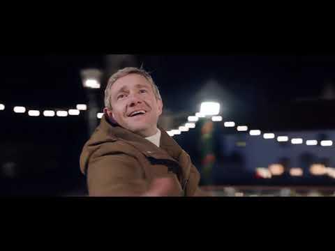 Martin Freeman in the Christmas ad for Vodafone UK Glide Through Christmas