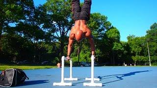 How To Build Pvc Parallettes - Gymnastics Parallel Bars (big Brandon Carter)