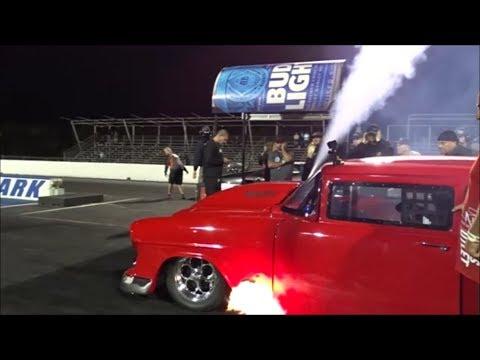 The 55 vs Blown Camaro at the Lone Survivor no prep