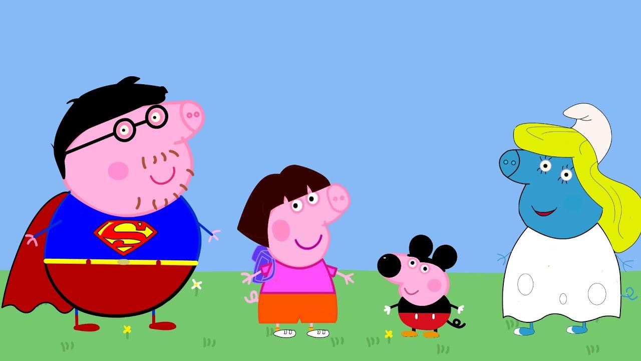 Peppa pig en espa ol fiesta de disfraces youtube for En youtube peppa pig