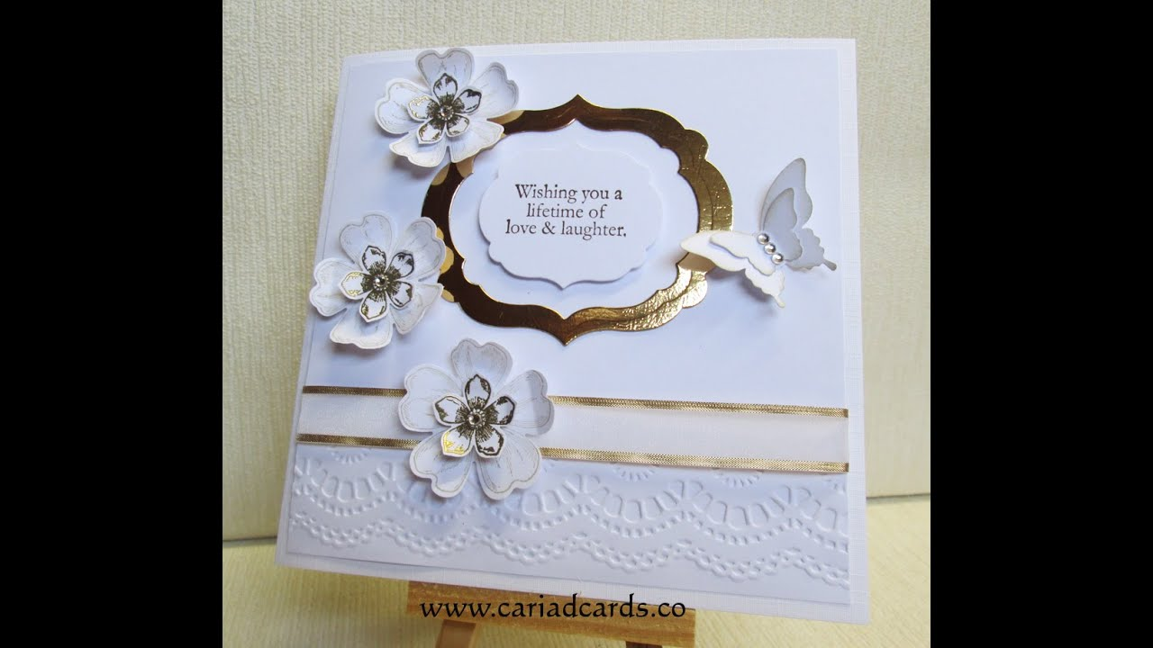 Stampin Up Hand Made Wedding Card You