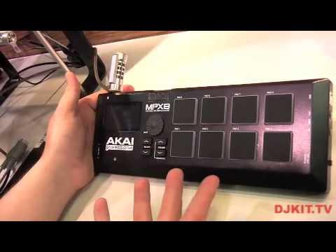 Akai MPX8 SD Sample Pad Controller @NAMM 2013 with DJkit.tv - YouTube