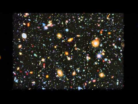 Zoom and pan of Hubble's colourful view of the Universe