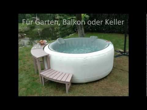 Bekannt Whirlpool aufblasbar für Garten Balkon oder Keller - YouTube UU87