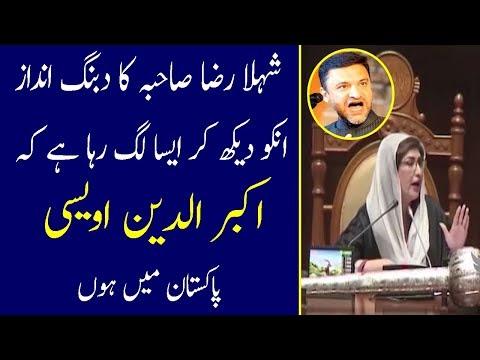 Shehla Raza Dabung Style Its Look Like Akbar Uddin Owaisi In Pakistan - Akbar Owaisi