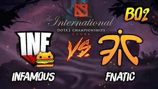 Infamous Gaming vs Fnatic ► The International Dota 2 2019 ( TI9 Day 2 ) 😎 | dota 2