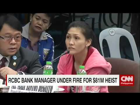 RCBC bank manager under fire for $81M heist