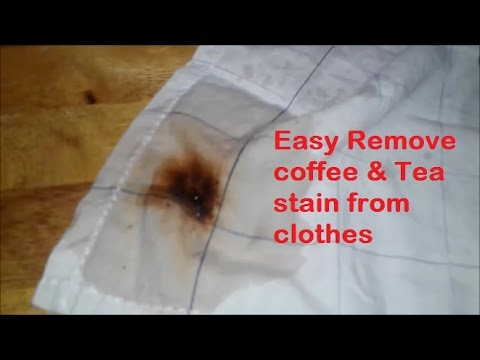 Easy Remove Coffee Tea Stain From Clothes Youtube