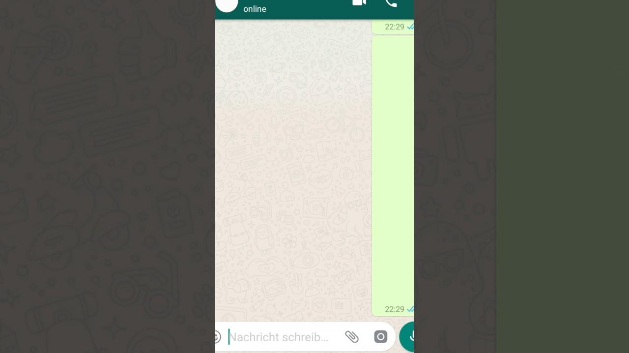 Leerer Status Whatsapp