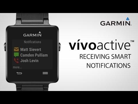 Garmin vívoactive: Receiving Smart Notifications - YouTube