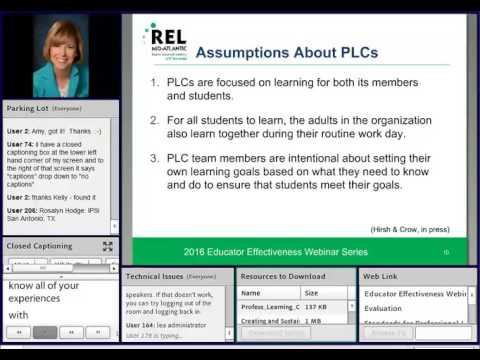 Creating and Sustaining Professional Learning Communities (2016 Educator Effectiveness Webinar)