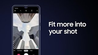 Galaxy A30: How to shoot with Wide & Ultra Wide cameras