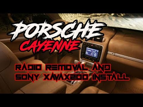 2006 Porsche Cayenne RADIO BOSE FIBER OPTIC REMOVAL AND INSTALL SONY XAVAX200