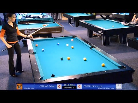 Sylvie CAMMAS vs Vincent ENDERLIN - TN10 Tournoi National Billard 2013 - Jeu de la 10 à Toulouse