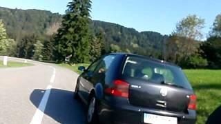 Rennrad Abfahrt von Österreich nach Deutschland