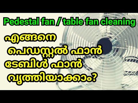എങ്ങനെ പെഡസ്റ്റൽ ഫാൻ /ടേബിൾ ഫാൻ വൃത്തിയാക്കാം? how to clean table fan/pedestal fan/fan cleaning