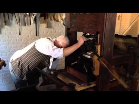 Colonial Williamsburg Virginia Printing Press