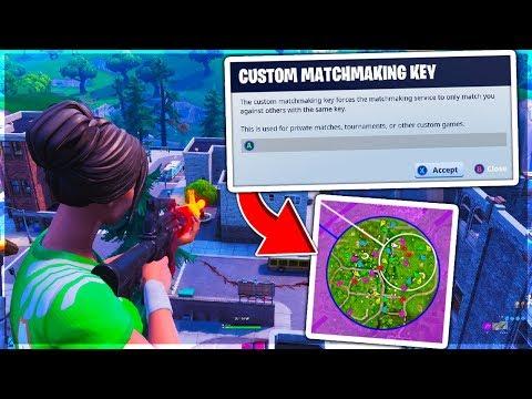 custom matchmaking codes fortnite