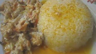 Жареные (тушеные) грибы вешенки в сметане с овощами и рисом на гарнир-С нами вкусно всегда.