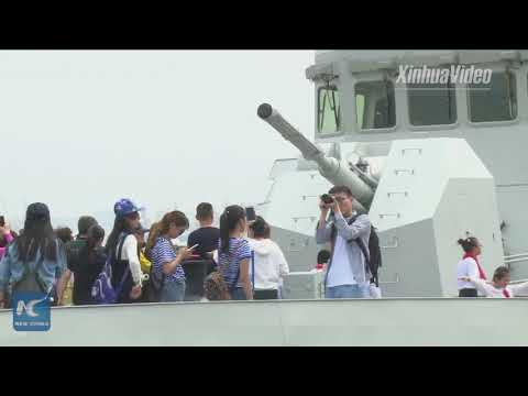 Boarding on China's self-developed warships! Chinese Navy holds Open Day at base in Shanghai