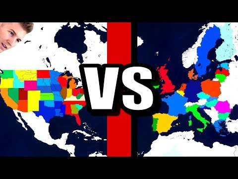 All US States Vs All EU States! (Age Of Civilizations 2)