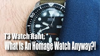 What Is An Homage Watch Anyway?!