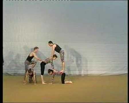 Akrobatik 2 - Dynamische Bodenakrobatik, Pyramiden - YouTube