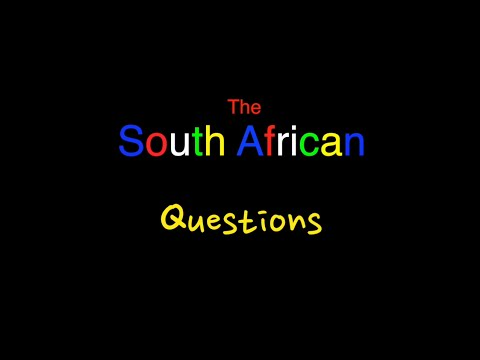 Questions South Africa - Episode 1