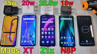 Redmi Note 8 Pro vs Realme XT vs Galaxy M30s vs Vivo Z1x Charging Speed Test : Insane 😱