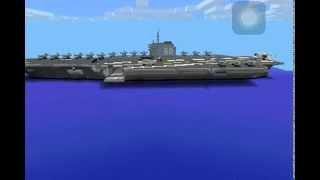 Minecraft pe aircraft carrier uss saratoga